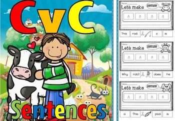 cvc sentences short o