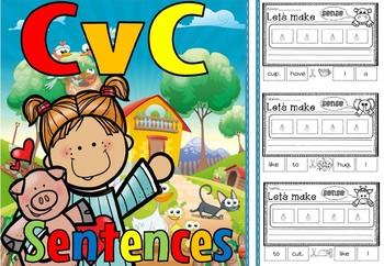 cvc sentences short u