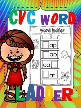 cvc word family ladders