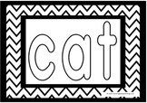 cvc words colouring pages for preschool, prek, reception, kindergarten
