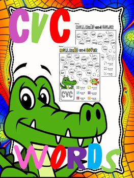cvc words roll read color (or cover ) free