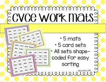 cvce work mats_5 picture to word matching activities