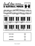 d natural minor scale (2 Octaves) - Level One Technical Re
