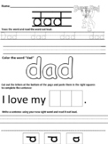 dad worksheet