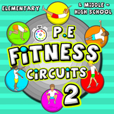 Fitness Circuit Station cards - Volume 2: 36 more PE activ