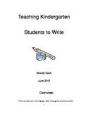 daily lessons teaching kindergarten writing