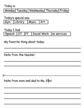 daily report to parents