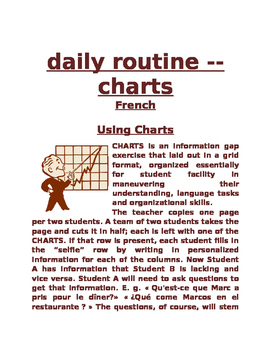 daily routine Chart FRN