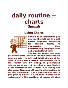 daily routine Chart SPN
