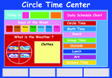 daily schedule chart & circle time center