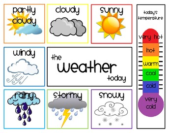 daily weather chart by shae zimmerman teachers pay teachers. Black Bedroom Furniture Sets. Home Design Ideas