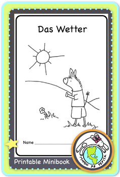 das Wetter Printable German Minibook for Weather