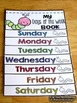 days of the week flip book