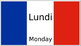 days of the week in french (English to French)