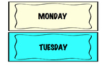 days of the week templates for classroom calendar