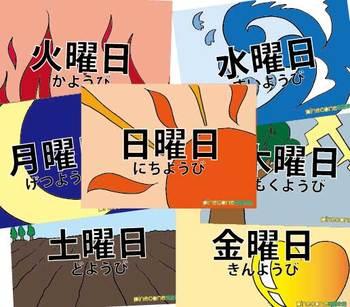 曜日(days of the week)
