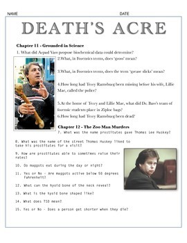 Death's Acre - Chapter 11-12 Questions w/key