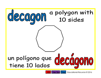 decagon/decagono geom 1-way blue/rojo