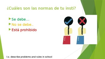 decribe rules and problems in your school