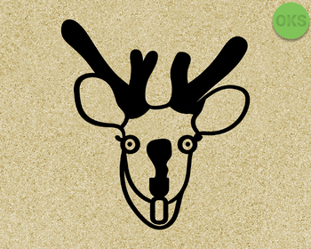 deer caught in the headlights SVG cut files, DXF, vector EPS cutting file