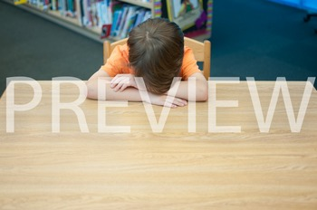 Stock Photo: Discouraged Student #2 -Personal & Commercial Use