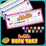 desk name plates editable - reference nametags, shapes, number line, alphabet