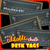 editable desk name tags chalk - reference nameplates, shape, number line