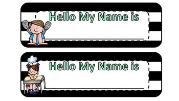 desk name tags for students (Melon Head Kids Set) Only $2.00