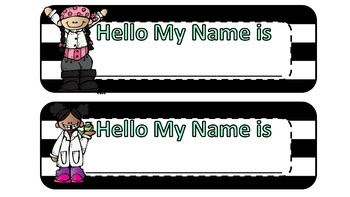 desk name tags for students (Melon Head Kids Set) Only $2.00 classroom decor