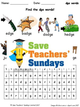 dge Words Lesson Plans, Worksheets and Other Teaching Resources