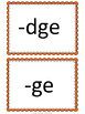 dge and ge sorting and spelling activities - ending /j/ sound