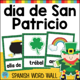 día de San Patricio SPANISH St. Patrick's Day Vocabulary Word Wall