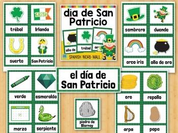 día de San Patricio SPANISH St. Patrick's Day Vocabulary Word Wall