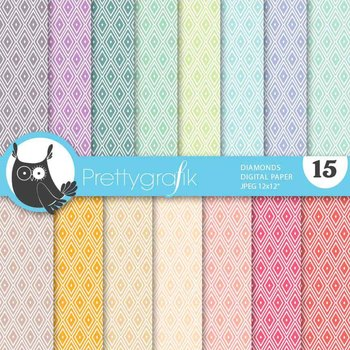diamond harlequin digital paper, commercial use, scrapbook papers - PS637
