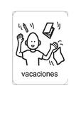 diario para vacaciones, spanish boardmaker holiday diary.