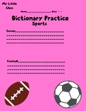 dictionary practice sports