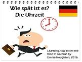 Die Uhrzeit. Telling the time in German.