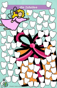 die Zahnfee Tooth Fairy Lost Tooth Posters in German