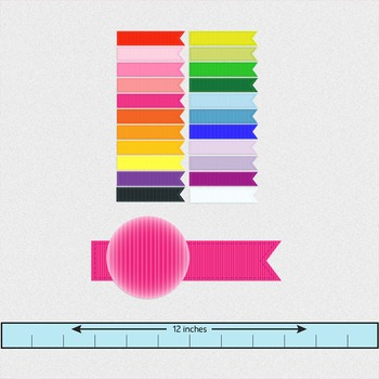 digital clip art banners with ribbon texture