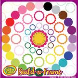digital clip art frames - scalloped labels and frames to m