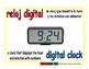digital clock/reloj digital meas 1-way blue/rojo