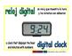 digital clock/reloj digital meas 1-way blue/verde