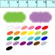 digital frame bundle// 300 clipart frames .png, 24 colors, black/white/gray