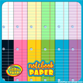 notebook paper digital paper in 12 colors, .jpg files