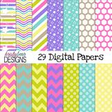 digital paper~ Bright Pastels