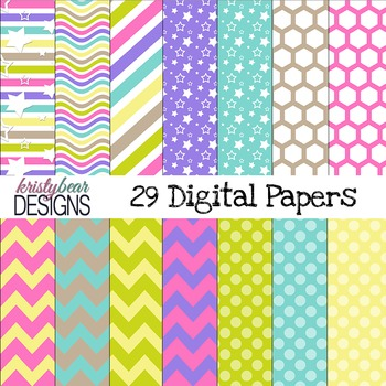 digital paper~ Bright Pastels