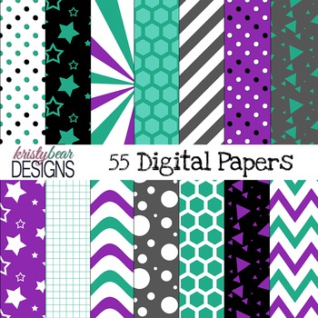 Digital Paper {Teal and Purple}