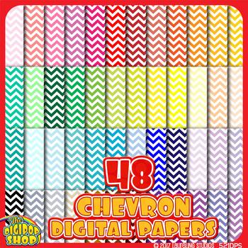 "chevron digital paper in 48 colors - background pattern .jpg 12""x12"""
