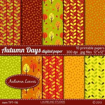 digital paper for fall/autumn