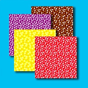 "digital paper with confetti dot pattern - printable .jpg pattern 12""x12"""